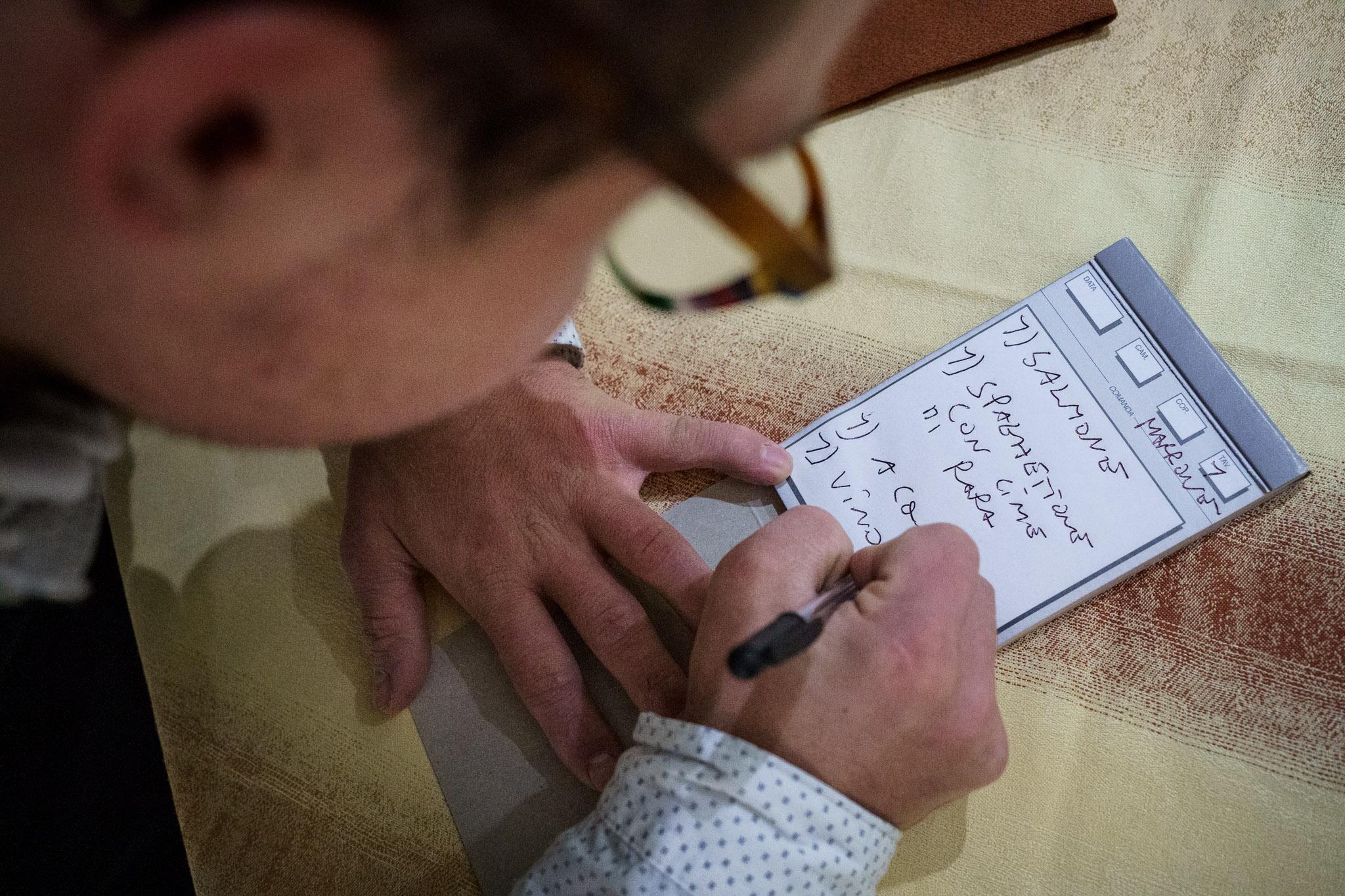 Jonathan writes an order