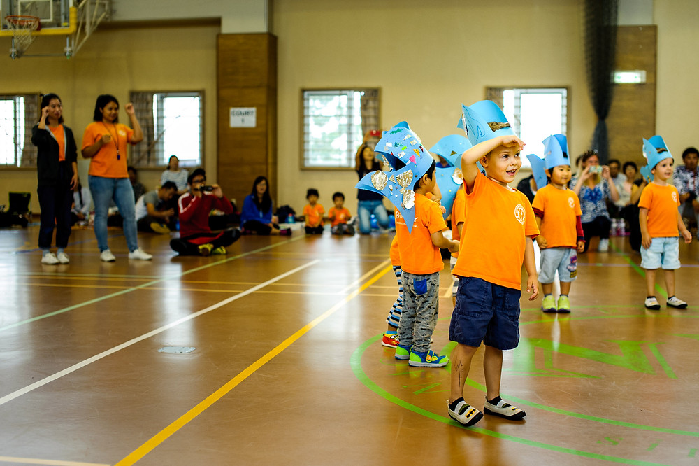 The baby shark dance by Dean and his class