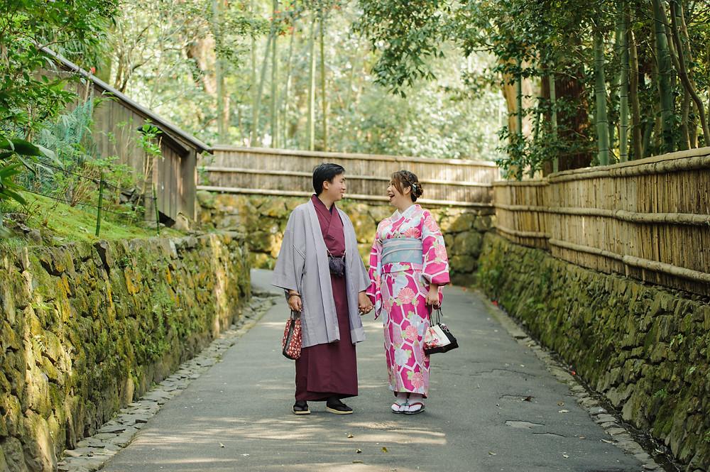 Touring Kyoto in Kimonos