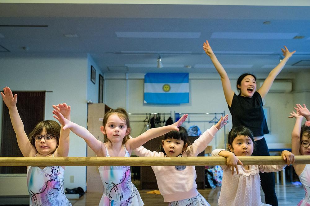 Bentley dances with her class