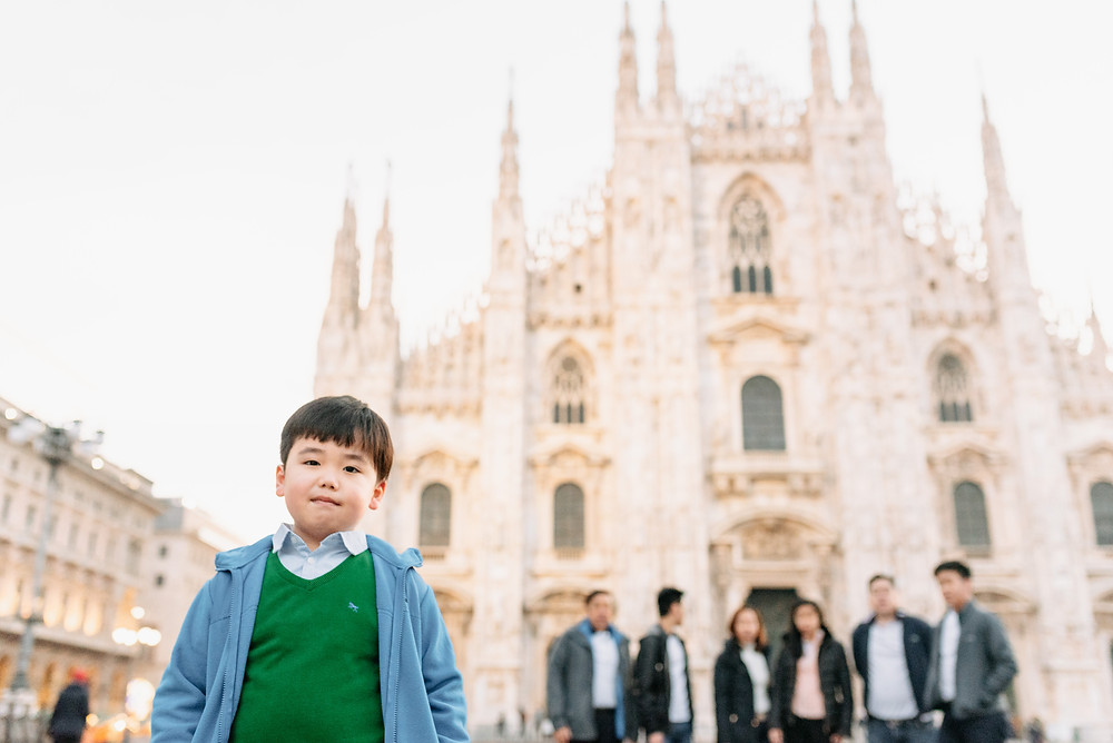 little boy at the duomo