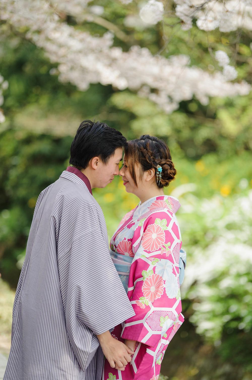 Happy in Kyoto in the spring