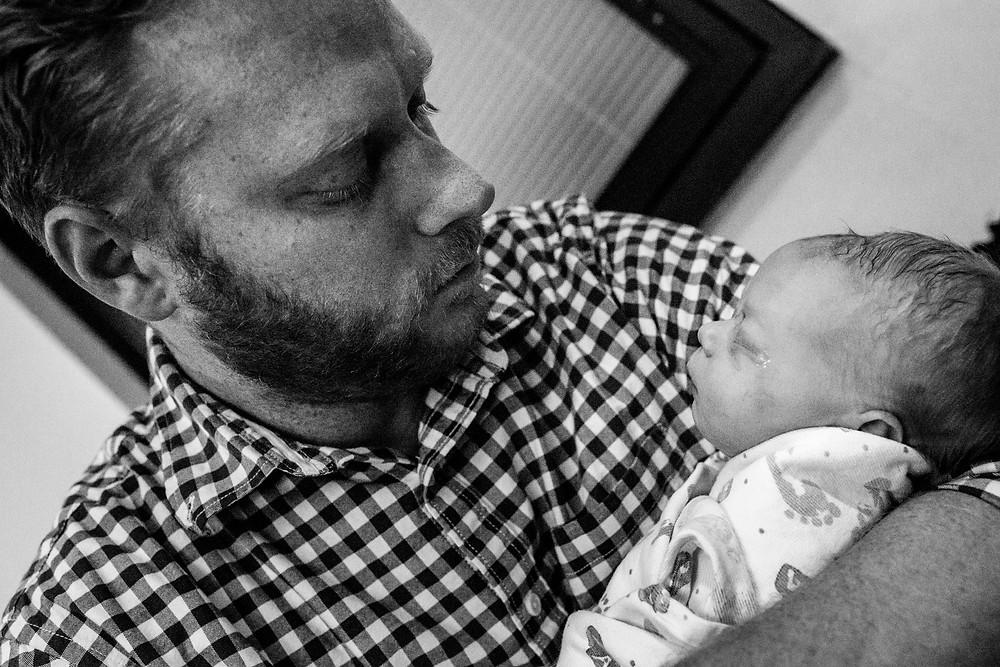 dad adores his baby