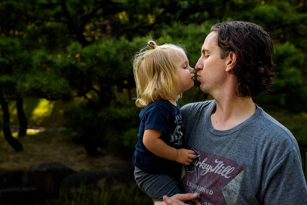 Skye and Brad kiss