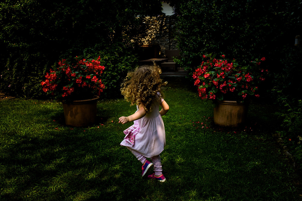 wild hair and roses
