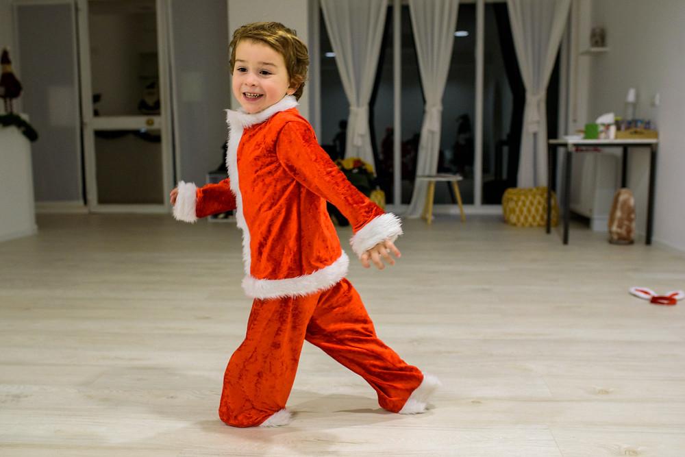 running around as santa