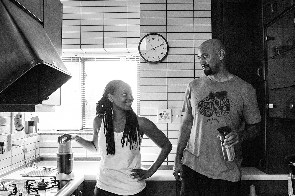 Andrea and Richard in the kitchen