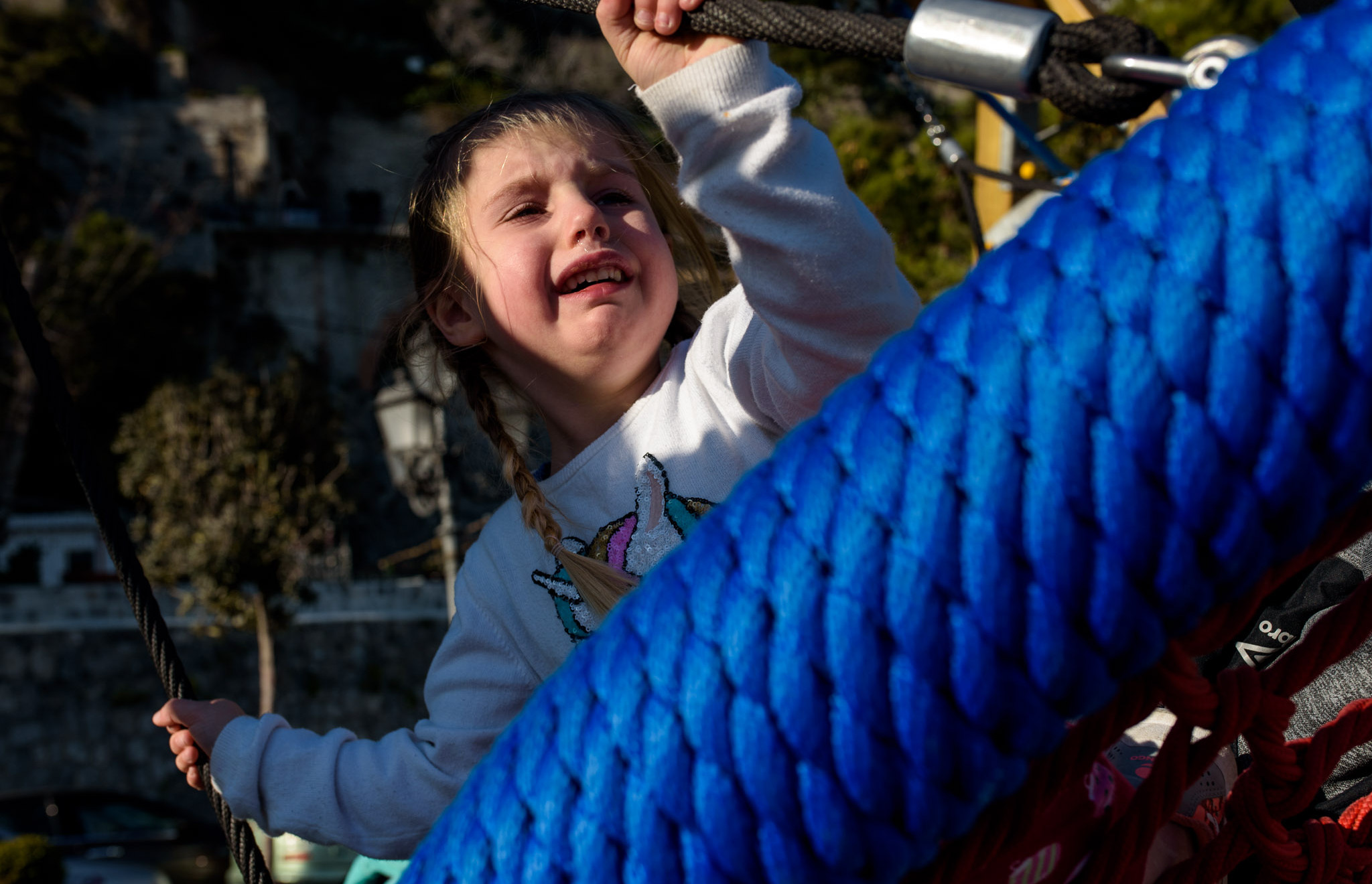 sad girl on a swing