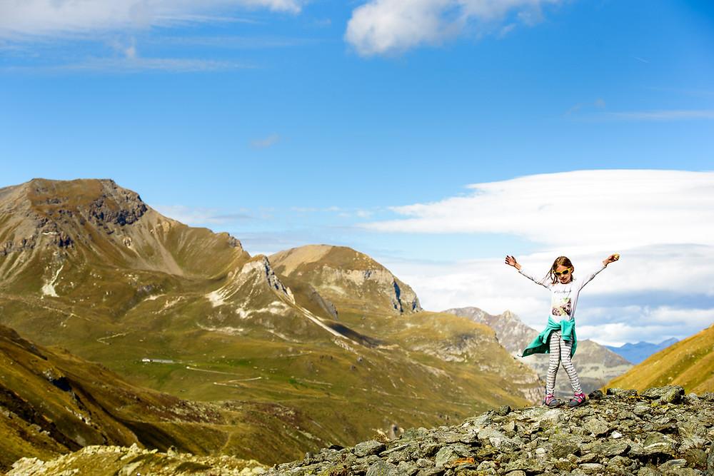 Amelia enjoying the mountains