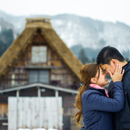 Snowy Shirakawago Honeymoon Session