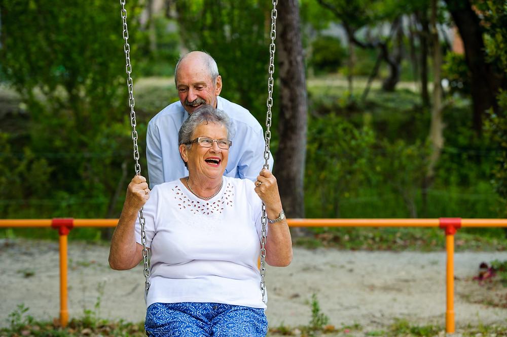 Grandma and Grandpa at the playground