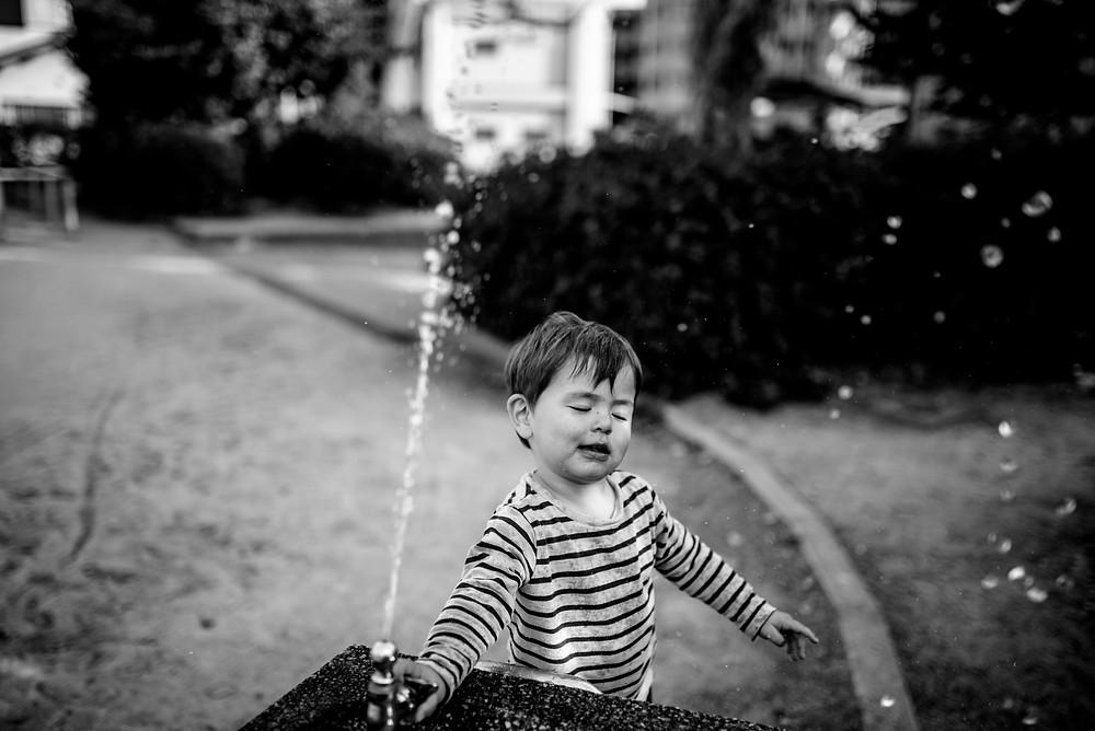 taiyo and the water fountain