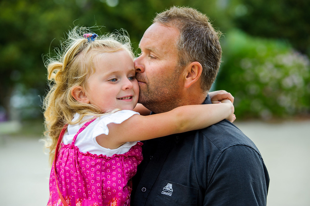 Willa and her father at the park
