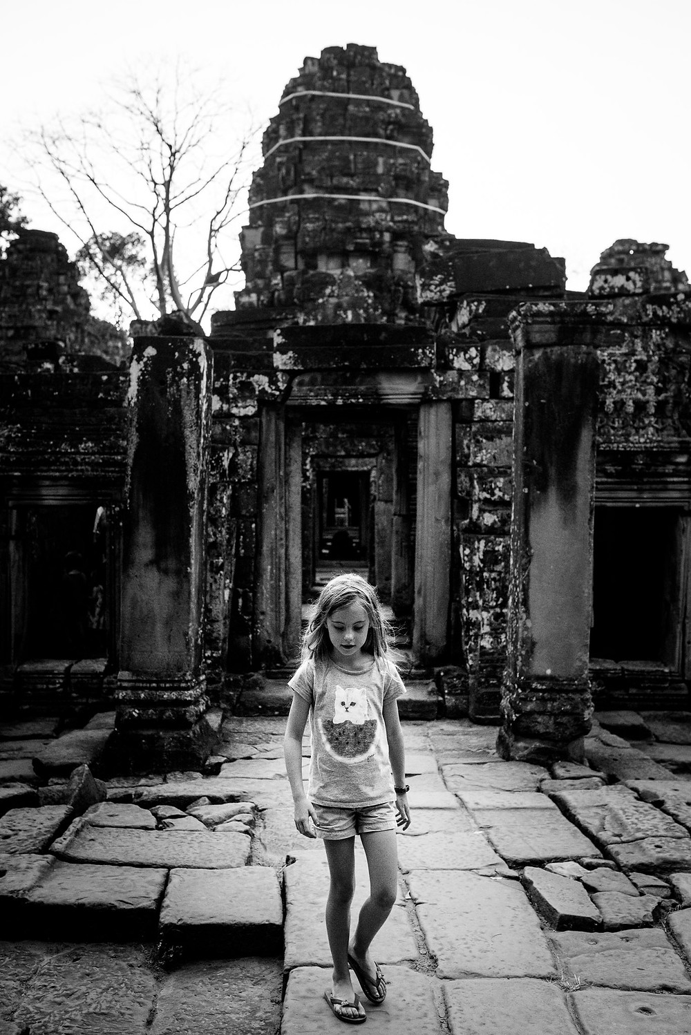 Amelia at Angkor Wat