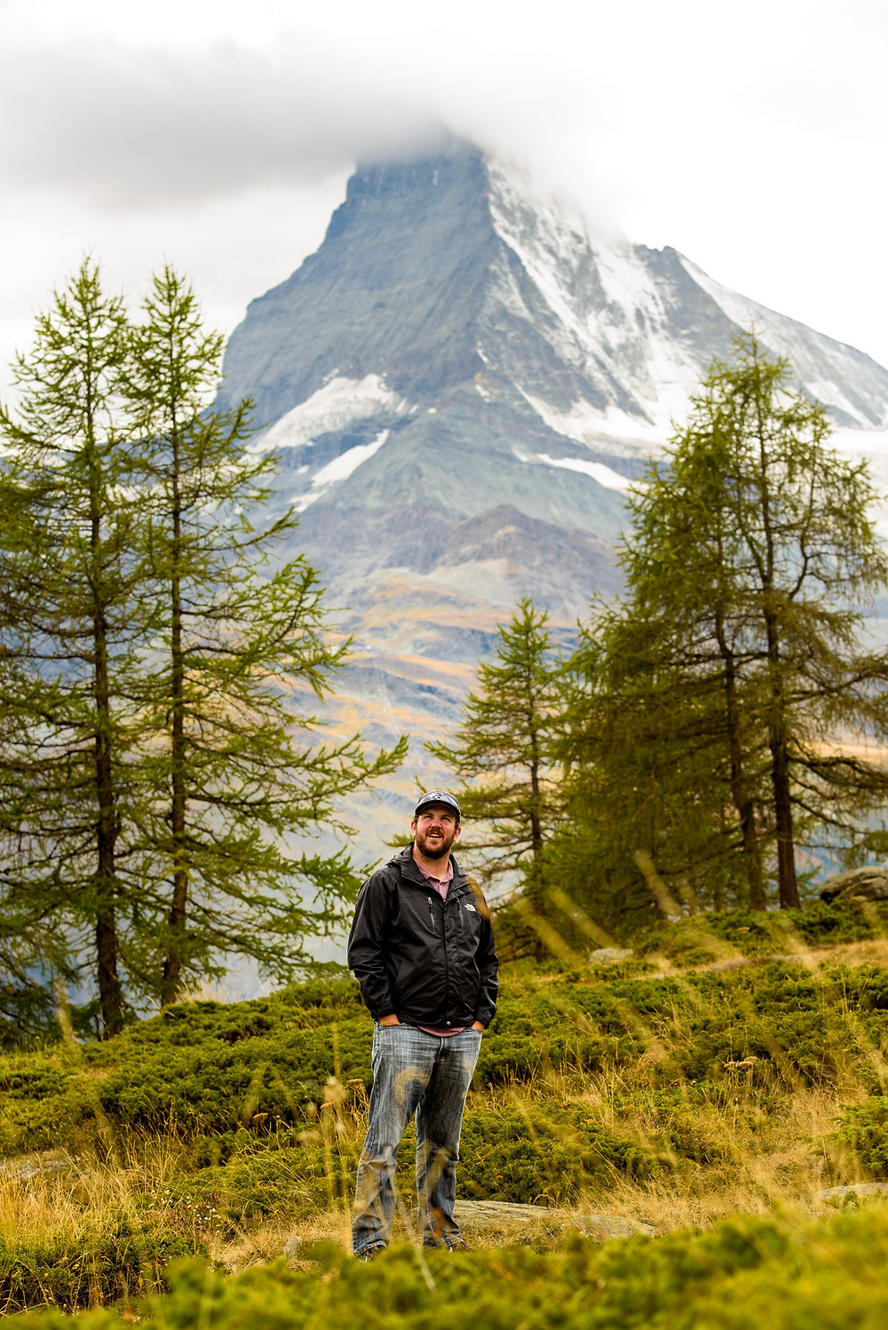 Alec in front of the Matterhorn