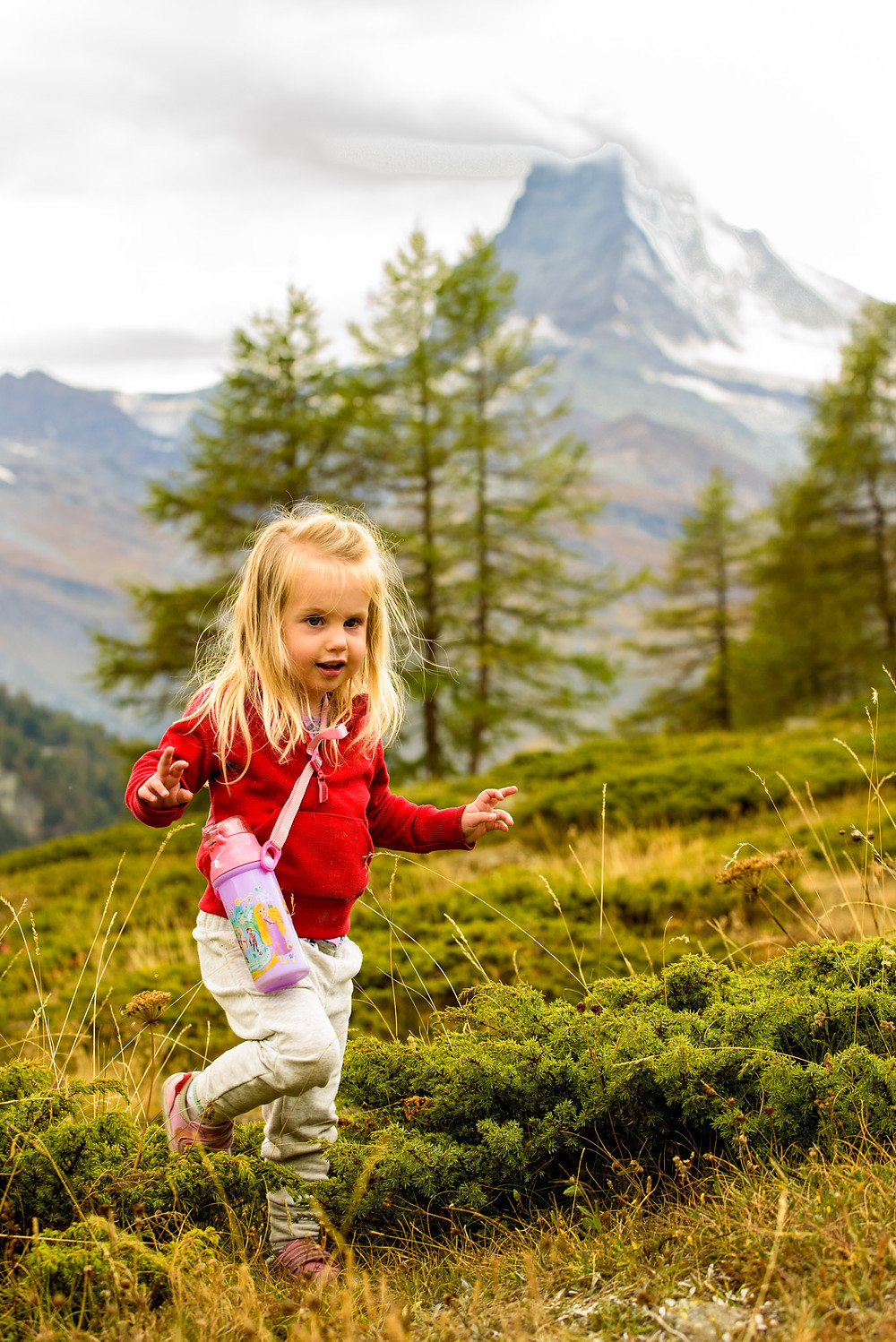 Skye walking in the mountains