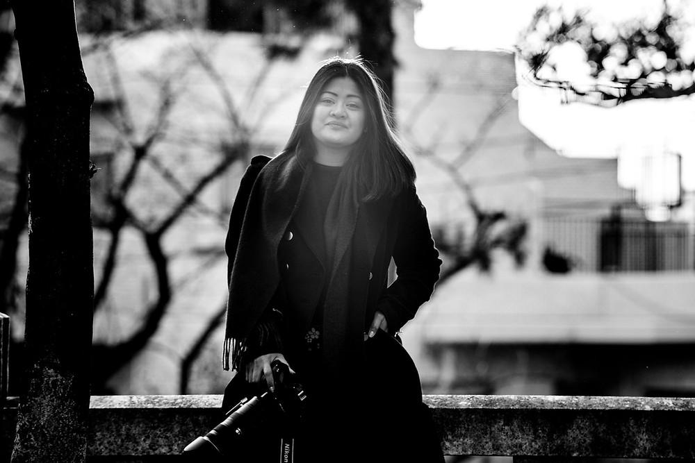 Anna Mae again in black and white