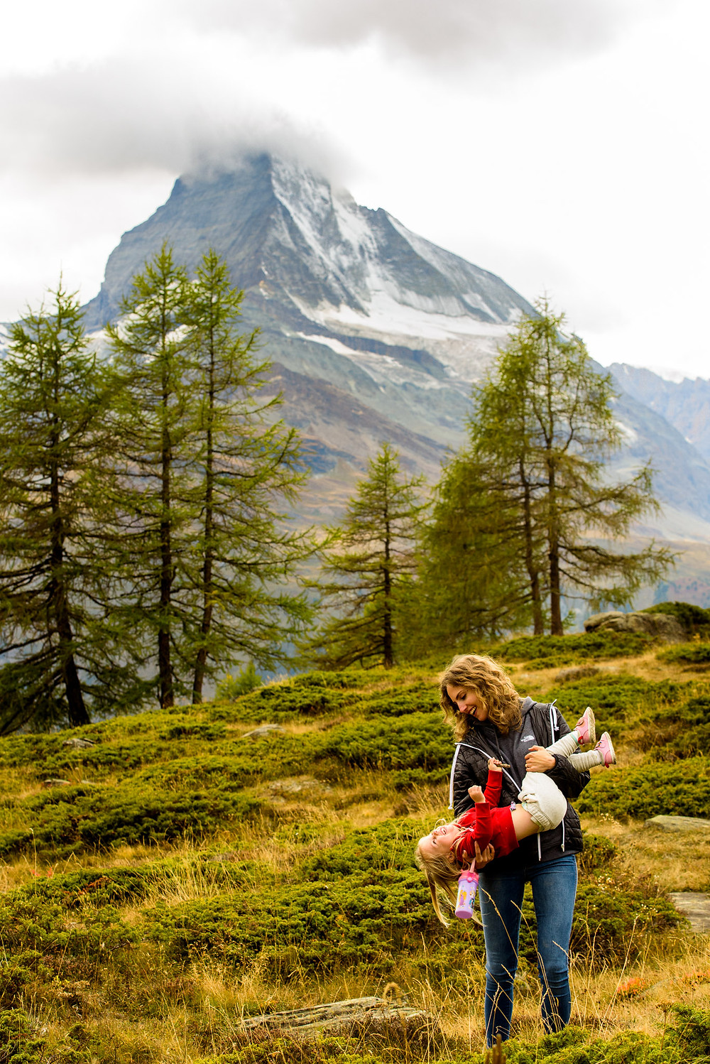 Me holding Skye in the mountains