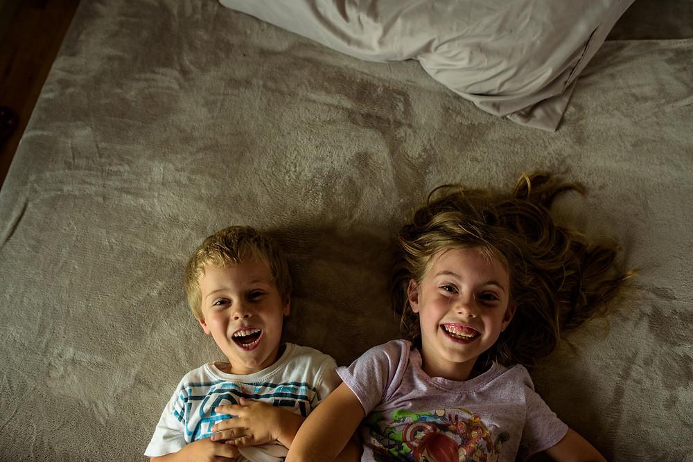 """Mia is always laughing while having fun!"" (Amelia's caption)"