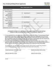 City of Lathrop Fishing Permit Applicati