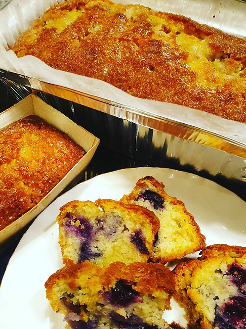Lemon and Blueberry Loaf Cake