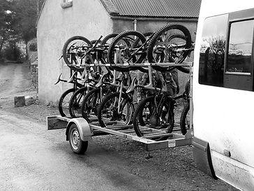 Black Sheep Tours Mountain Bike transport rack.