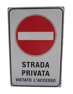 CARTELLO ALLUMINIO SCATOLATO