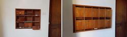 casellario in legno