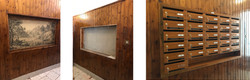 casellario in legno con mensola porta-plichi
