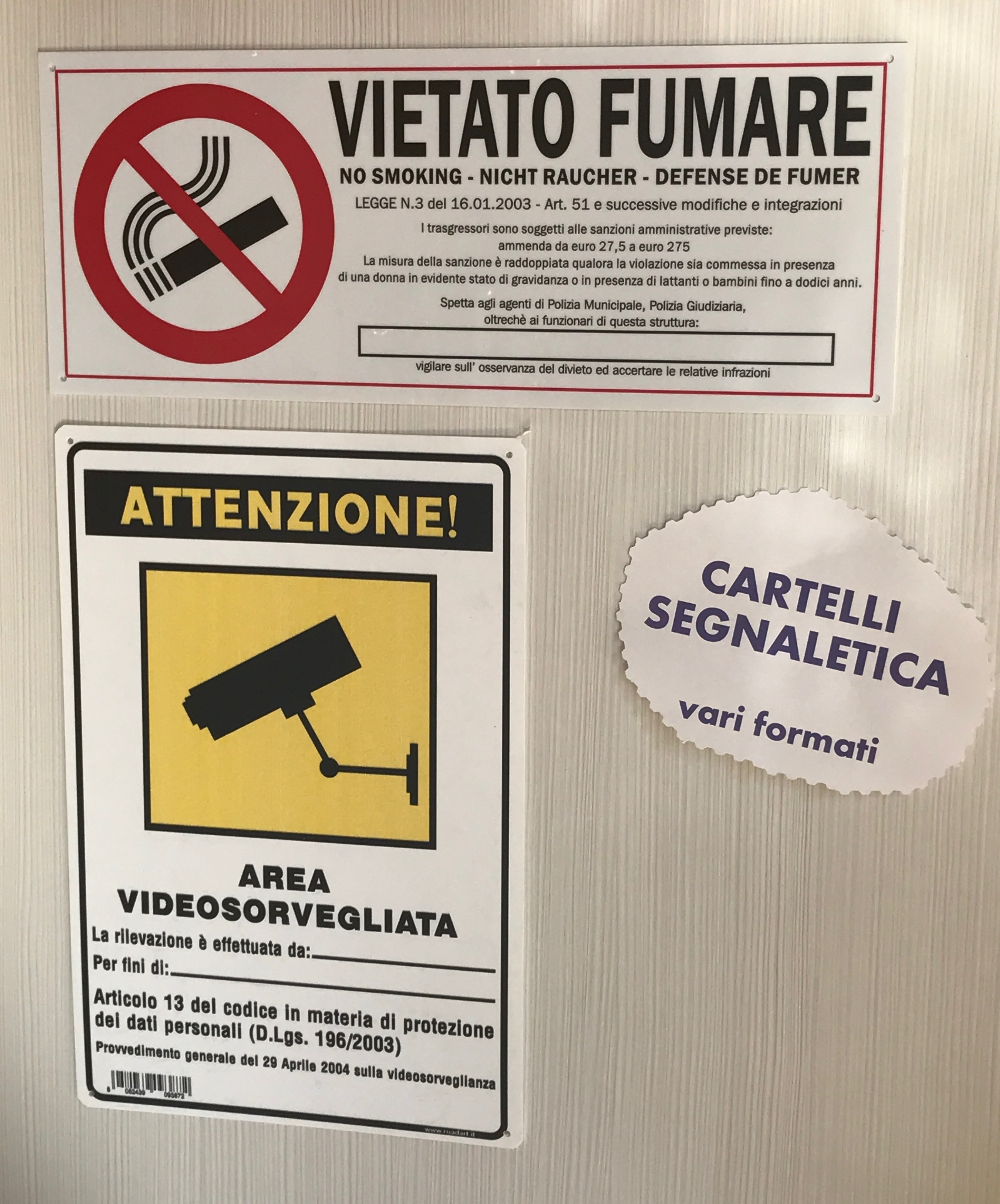 cartelli divieto