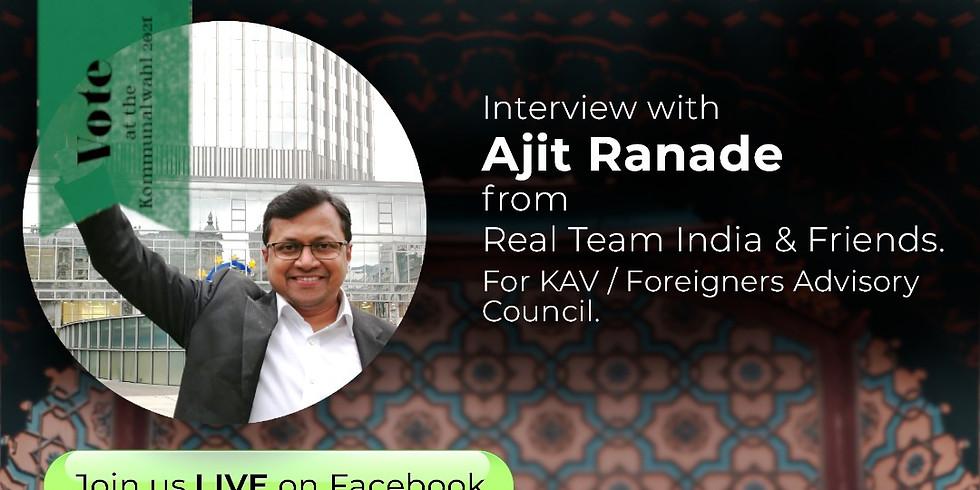Interview mit Ajit Ranade (in EN)