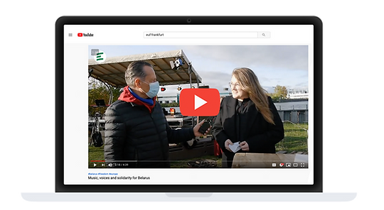 EUF distributing Media Content on Social Media Youtube Europa Union Frankfurt