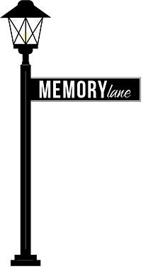 Memory Lane lamppost logo