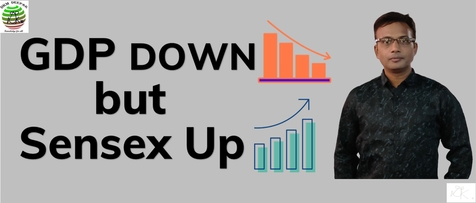 GDP Down but Sensex Up