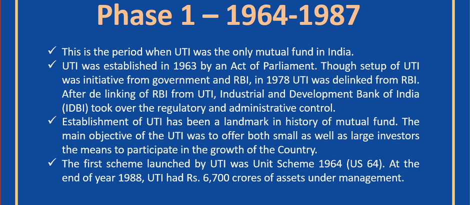History of Mutual Fund in India