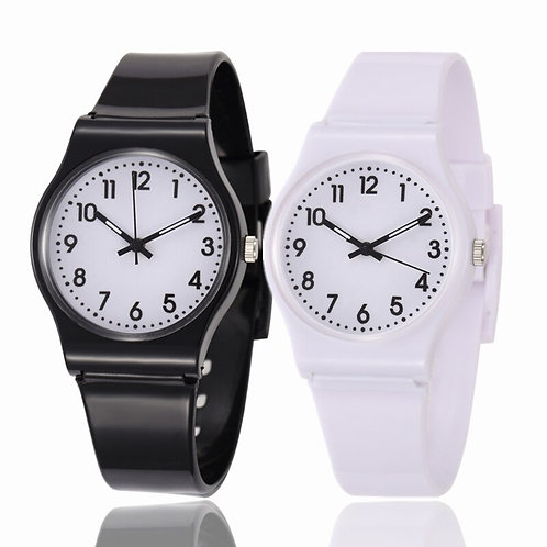 Children Multi Colors Rubber Band Watches