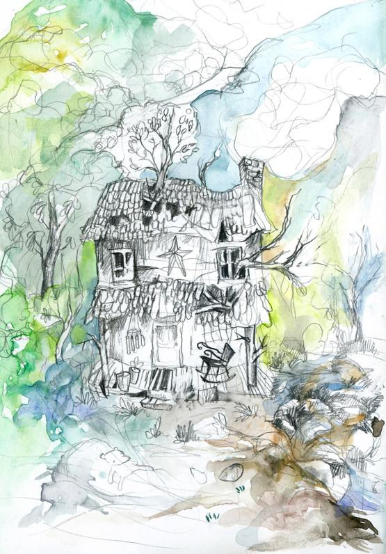 Mountain Home Sketchbook Illustration, 2012