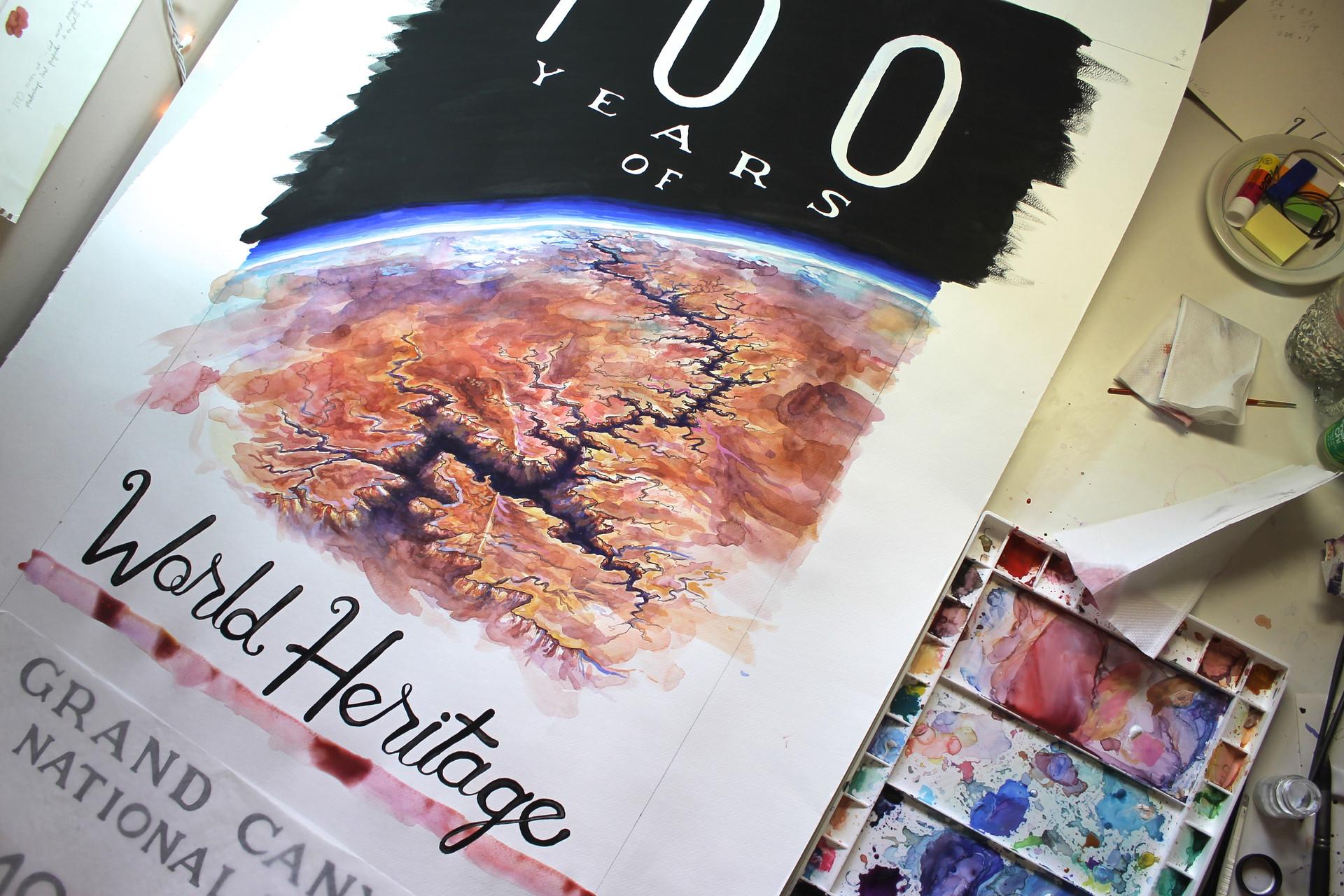 world history poster in progress