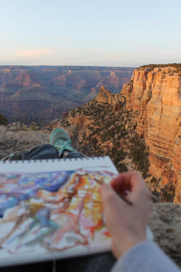 Painting a Grand Canyon Sunset