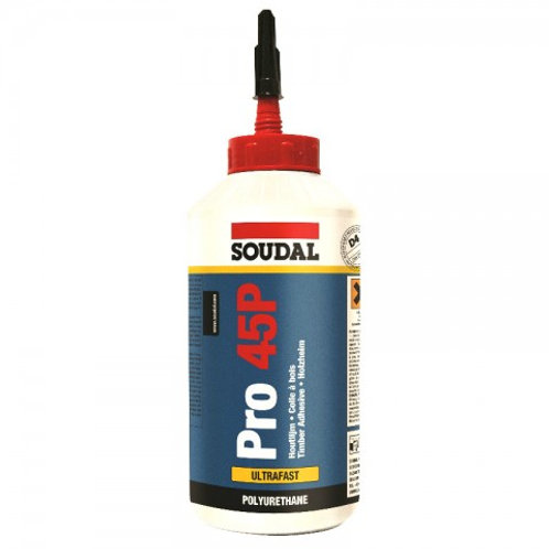 Soudal PRO 45P Ultrafast water resistant PU glue 750ml BOX of 6
