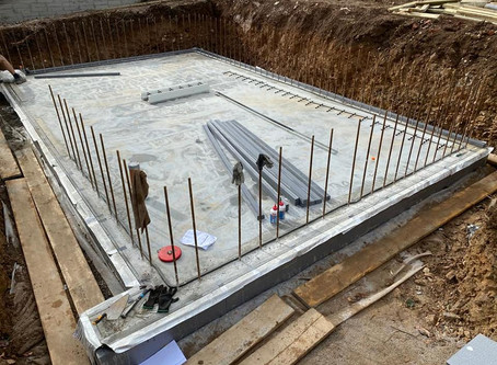 R-WALL build with R-WALLS under slab floor system