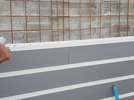R-WALL used for retaining, where traditional block failed!