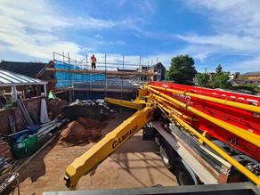 Pouring a 7 House development