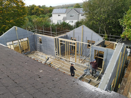 Extension ready for roof!