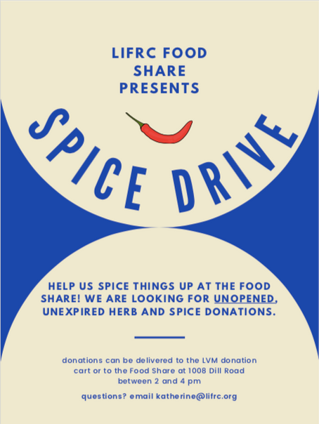 Help us spice things up! In Kind Food Drive