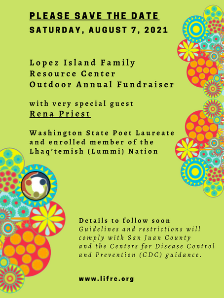 Save the Date: August 7th!                             LIFRC's Outdoor Annual Fundraiser