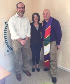 Andy Rose, Amy Spangler-Dunning, Rev. Bill Spangler Dunning