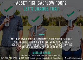 ASSET RICH CASHFLOW POOR?  Let's change that.