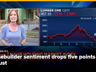 Homebuilder sentiment falls to lowest level in over a year as buyers face sticker shock