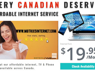 M8TRIX5 Now Offers Internet, TV, and Phone Services across Canada